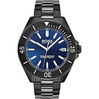 a1b616247 Hugo Boss Men's Blue Dial Stainless Steel Band Watch - 1513559 ...
