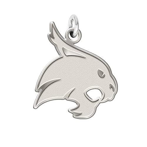 Amazoncom Texas State Bobcats Charm 34 Natural Finish Sterling