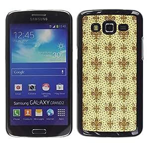Stuss Case / Funda Carcasa protectora - Wallpaper Classical Vintage Style Beige - Samsung Galaxy Grand 2 SM-G7102 SM-G7105
