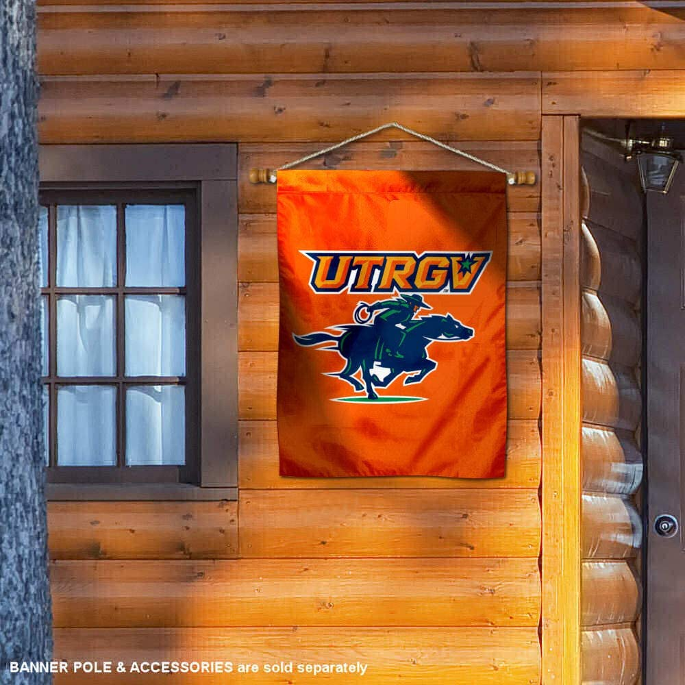 College Flags /& Banners Co UTRGV Vaqueros Double Sided House Flag