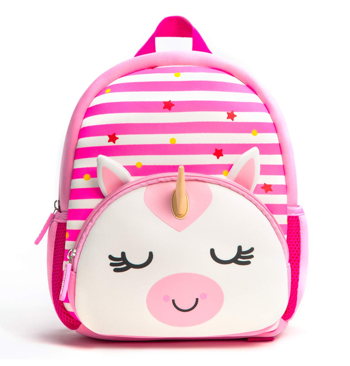 Toddler Backpack, Waterproof Preschool Backpack, 3D Cute Cartoon Neoprene Animal Schoolbag for Kids, Lunch Box Carry Bag for 1-6 Years Boys Girls, Unicorn by KK CRAFTS