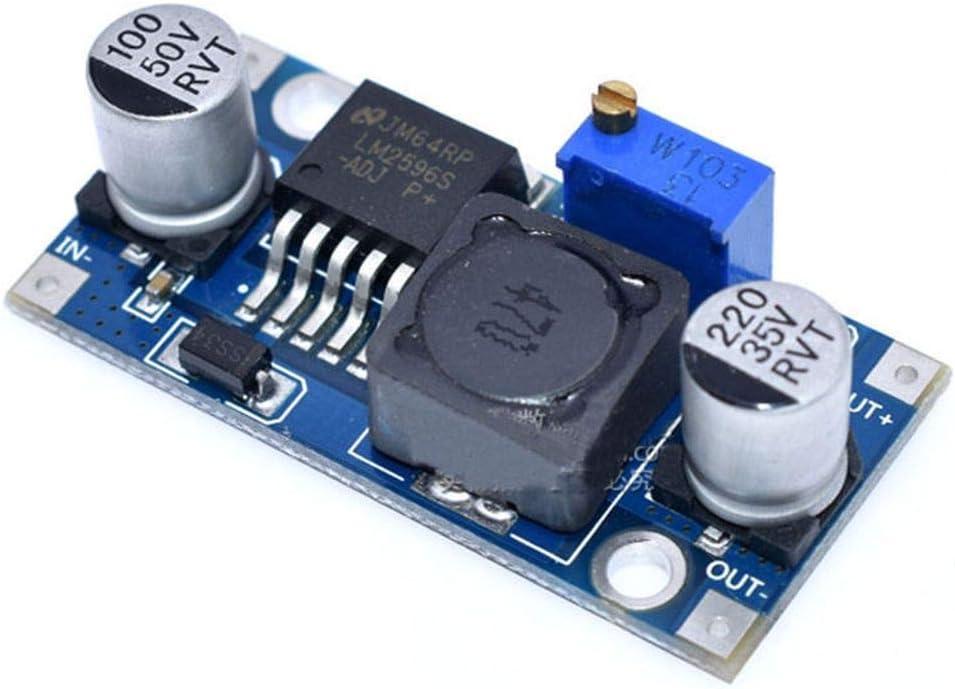 Bomcomi 10pcs LM2596S DC-DC abaisseur Power Module Buck 3A r/églable r/égulateur abaisseur de Super LM2576 Converter