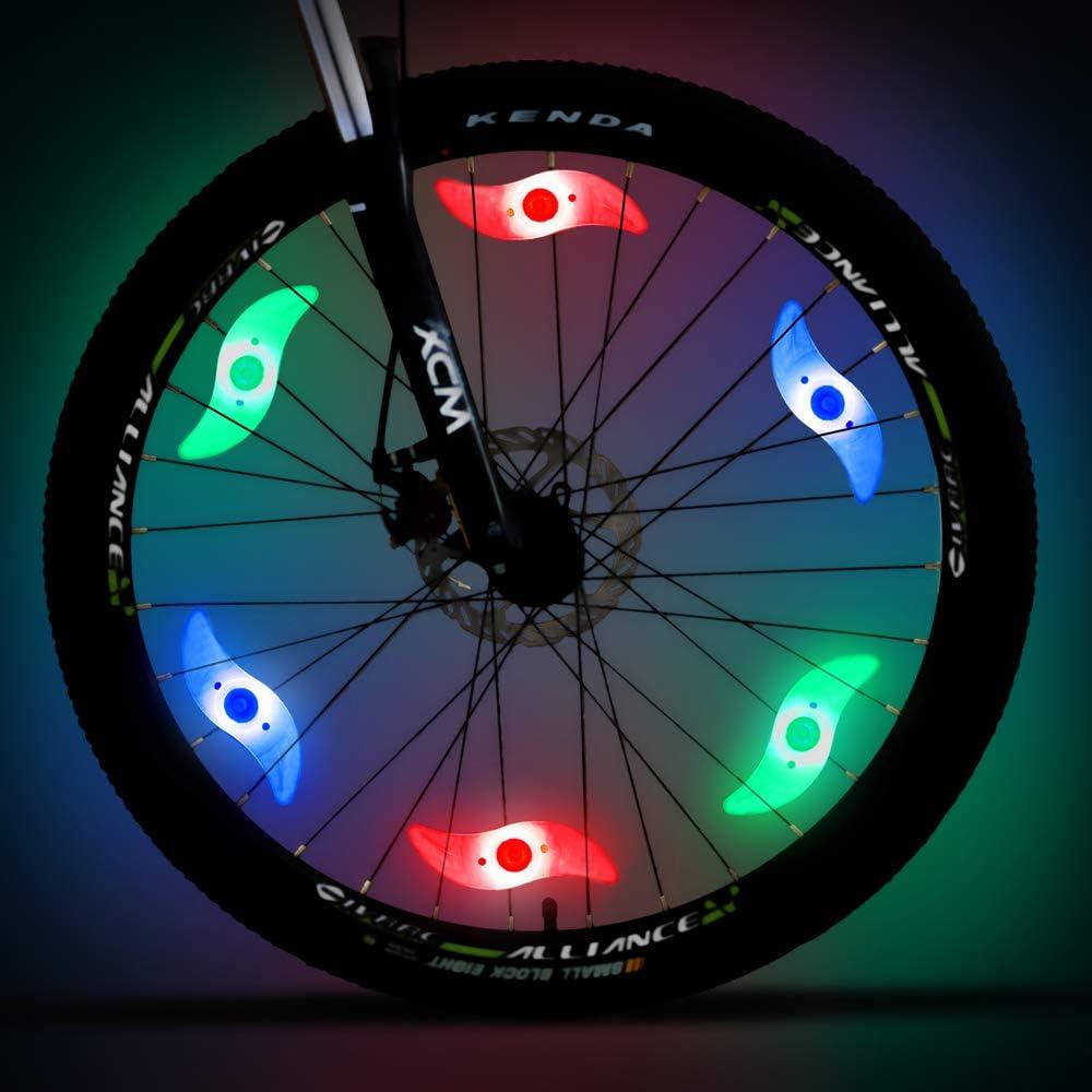 MACYWELL - Luces LED para radios de Bicicleta para decoración de ...