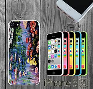 Monet's Water Lilies Custom made Case/Cover/Skin FOR iPhone 5C Color -White- Rubber Case