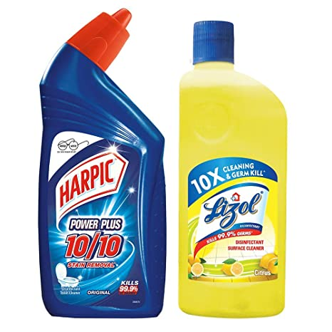 Harpic - 500 ml (Original) and Lizol - 500 ml (Citrus)