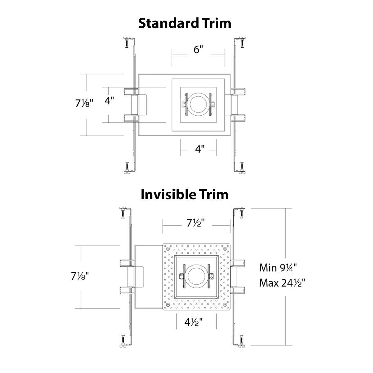 WAC Lighting MT-4115T-935-WTBK Silo LED Multiple Single New Construction Non-IC Airtight with Light Engine Housing /& LED White//Black White//Black