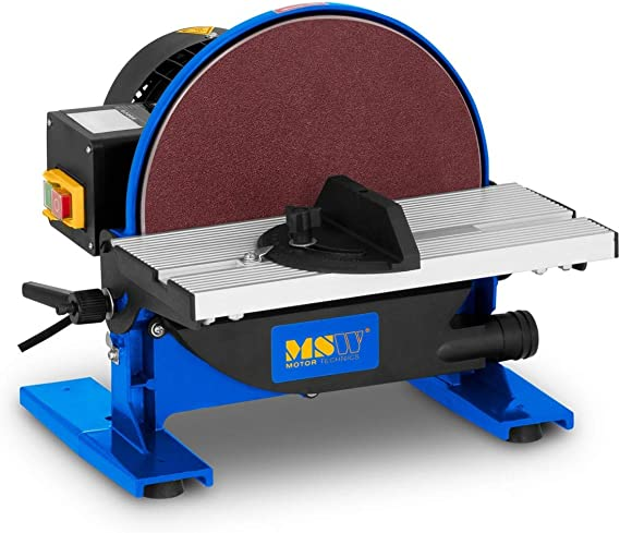 MSW Lijadora De Mesa Con Disco Con Salida Para Aspiradora MSW-DS550 (550 W, 1.750 rpm, Ø 250 mm, Mesa 300 x 140 mm, Inclinación: 45°): Amazon.es: Bricolaje y herramientas