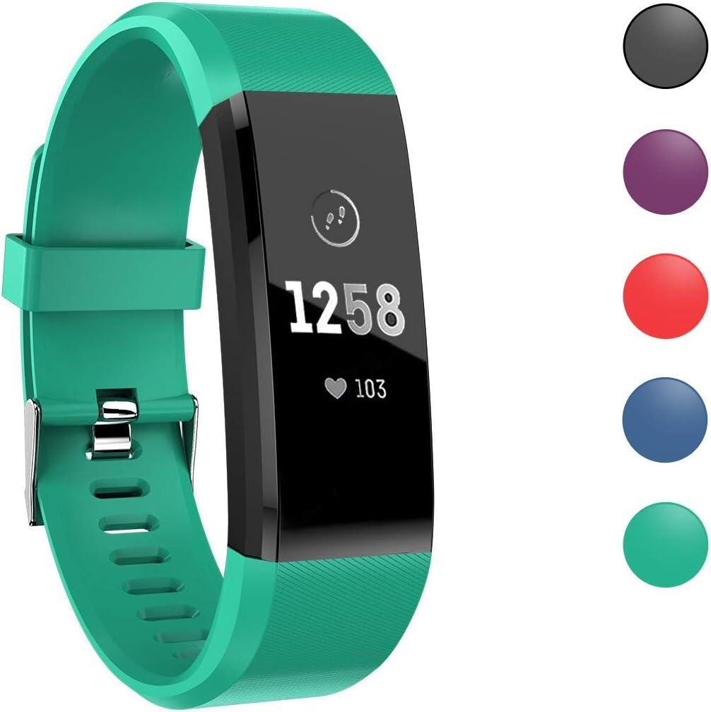 ATETION Pulsera de Actividad Inteligente, Impermeable Reloj Inteligente con Pulsómetro Podómetro Calorias Monitor de Sueño, Pulsera Actividad Smartwatch para Hombre Mujer Niños (Verde)