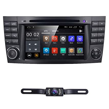 hizpo 7 Inch Android 8 1 Car Stereo Radio DVD Player GPS Can-Bus Mirrorlink  Bluetooth OBD2 Multi Touch Screen for Mercedes-Benz E-Class W211 CLS W219