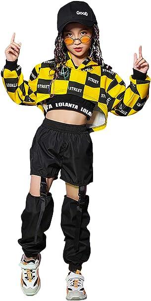 LOLANTA 3 Pezzi Set di Costumi Hip-Hop per Ragazze Street Dancewear Costume da Danza Moderna