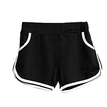 6b2c7ee865f1 Kingko® Ladies Girls Summer Retro Training Running Gym Yoga Fitness Hot Sports  Shorts (Black