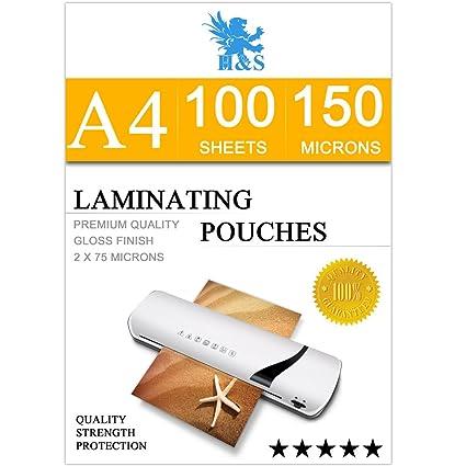H&S Bolsas térmicas de laminadora para plastificar (2 x 75 ...