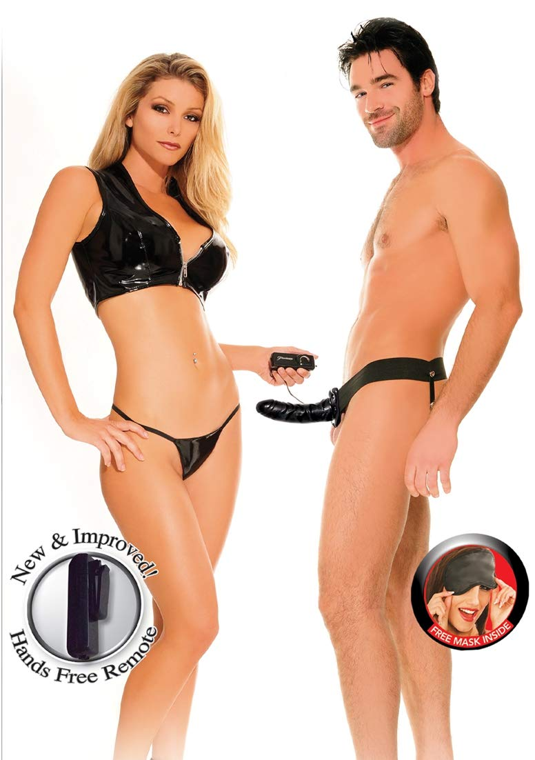 Fetish Fantasy Vibrating Hollow Strap On, Black