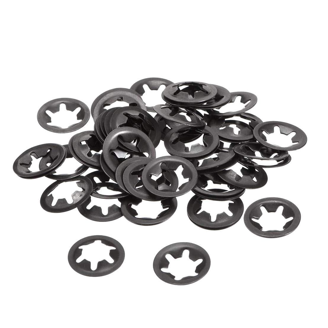 7 mm de di/ámetro Interno Insmart 100 Piezas Starlock Washer Push on Fasteners Arandelas de Bloqueo Clips MN Metal Acero