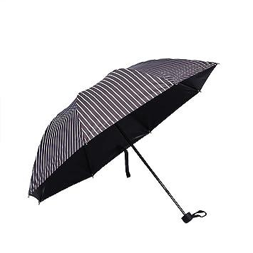 Sabarry UV – Paraguas automático bastón Pantalla Grande Paraguas Mujer Niños Double Layer Resistente al Viento