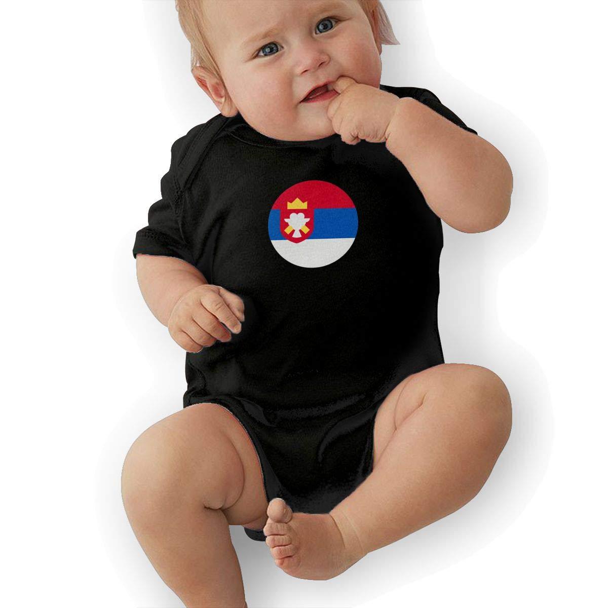 Serbia Casual Newborn Baby Short Sleeve Bodysuit Romper Infant Summer Clothing