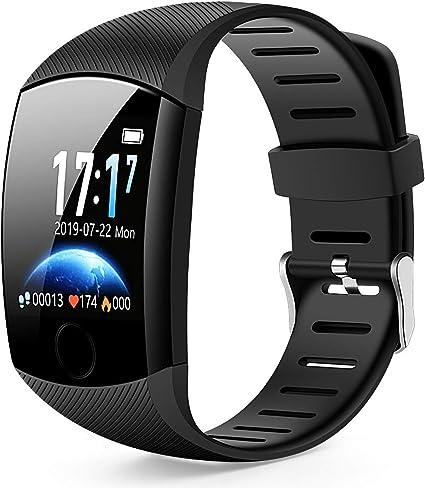 Smart Watch,Bluetooth Smartwatch Fitness Tracker Watch with Pedometer Heart Rate Monitor Sleep Tracker,Waterproof Smart Watch Compatible iPhone iOS ...
