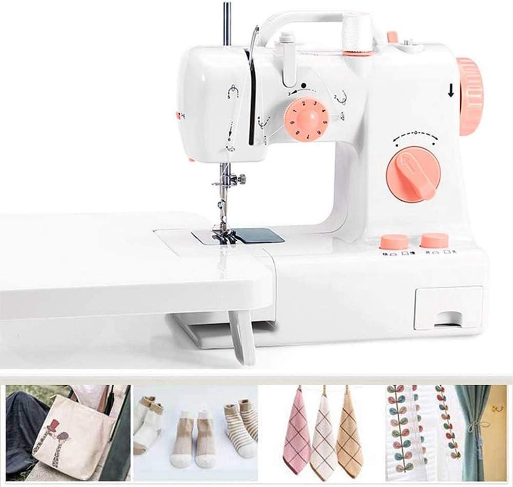 Mini portátil de la máquina de coser, 2 velocidades de Hogares de artesanía de la reparación de la máquina con la tabla de ampliación, pedal de pie, LED de luz de cosido, for adultos principiantes