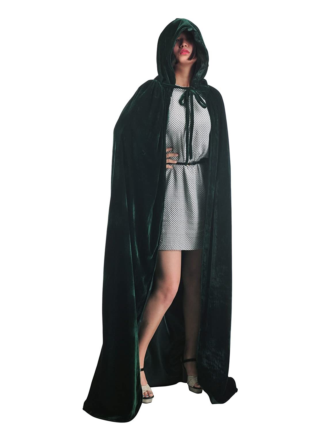 Topwedding Christmas Deluxe Hooded Cloak Adult Halloween Costumes Capes(S-XXL) lwpj140011
