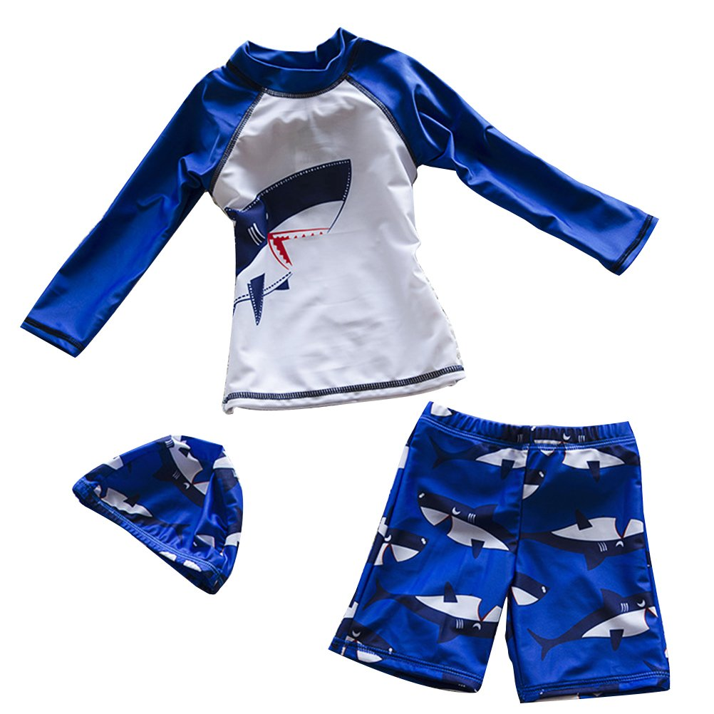 Zhhmeiruian Cute Kids Boys Swimsuit Fashion Three Piece Swimming Swimwear 9015
