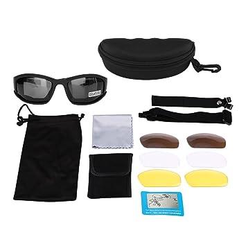 ba347f9598 Qiilu UV400 lunettes militaires polarisées lunettes de soleil 4 lentilles  pour le cyclisme de chasse en