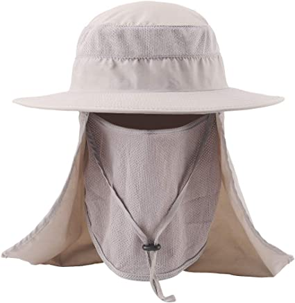 Outdoor Fishing Hat Sun Protection Neck Face Flap Cap Full Brim For Adult Unisex