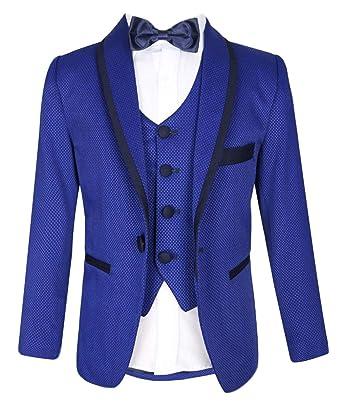 enjoy best price full range of specifications crazy price Flamingo Boys Prom Wedding Textured Tuxedo Suit: Amazon.co ...