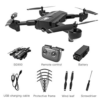 Laurelmartina SG900 Plegable Quadcopter 720P Drone Quadcopter WiFi ...