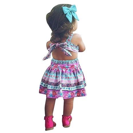 💜 Sin Respaldo Vestidos Niña,Niñito Niños bebé Niña Ropa de Verano Floral Party Vestidos de Princesa Vest Absolute: Amazon.es: Ropa y accesorios