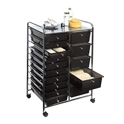 Amazon.com: Seville Classics 15-Drawer Organizer Cart w ...