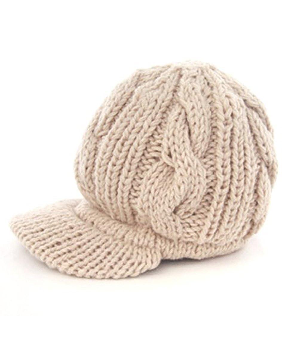Losuya® Women Girl Fashion Design Drape Layers Beanie Rib Hat Brim ...