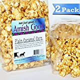 2 Pack Amish Good Premium Caramel Popcorn Hand Stirred in Copper Kettle Real Butter and Coconut Oil Makes Better Caramel Corn!