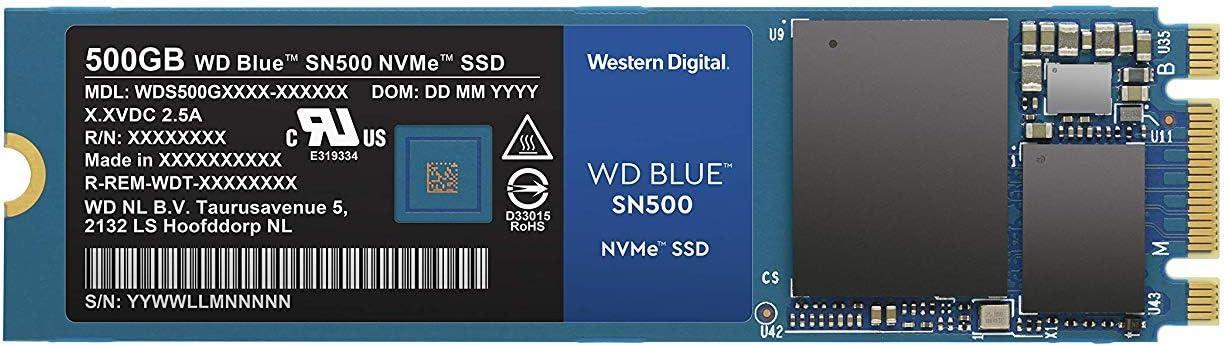 【国内正規代理店品】Western Digital WD Blue 内蔵SSD M.2-2280 3D NAND 採用 低消費電力 500GB NVMe WDS500G1B0C-EC