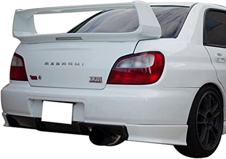 amazon com trunk spoiler compatible with 2002 2007 subaru impreza factory style abs unpainted with 3rd brake light trunk boot lip spoiler wing deck lid by ikon motorsports 2003 2004 2005 2006 automotive trunk spoiler compatible with 2002 2007 subaru impreza factory style abs unpainted with 3rd brake light trunk boot lip spoiler wing deck lid by ikon