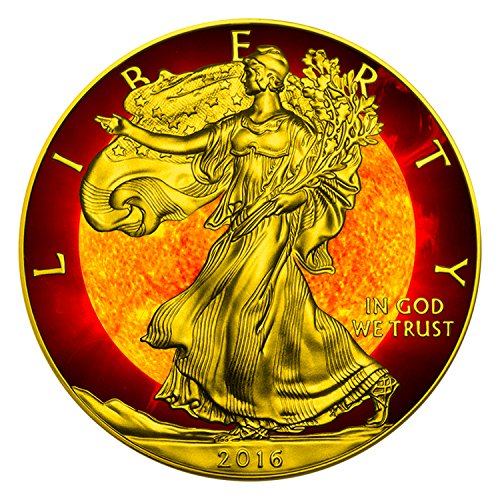 2016 SOLAR FLARE American Eagle 1oz Silver Coin $1 Brilliant Uncirculated