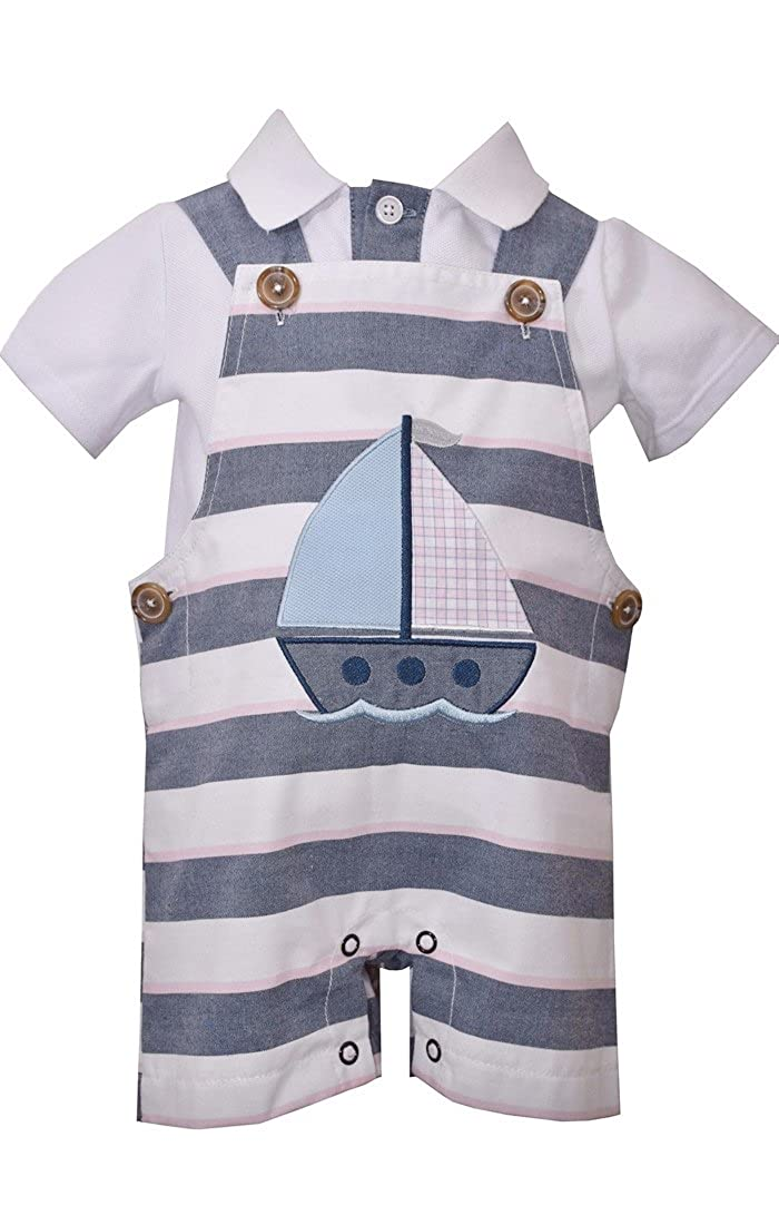 Bonnie Jean Baby Boy's Sailboat Coverall (4T)
