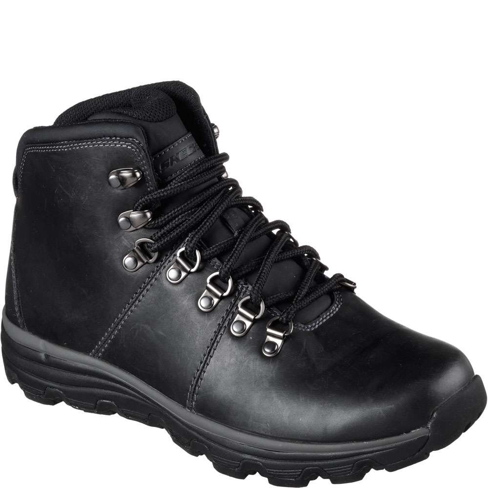 Skechers Format EDGIN Stiefel Outdoor Schuhe Waterproof Relaxed Relaxed Relaxed FIT BLK 43fcbf
