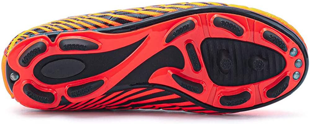 LEOCI Football Shoes Kids Anti-Slip Soccer Boots Toddler Outdoor Comfort Cleats