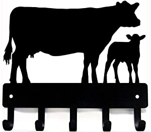 Cow & Calf Cattle Key Rack - Large 9 inch - Made in The USA