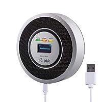 Gas Detectors Alarm-Ourjob, Household LPG/Natural/Coal Gas Combustible Gas Leak Monitor, Propane Butane Methane Gas Sensor, USB Powered, Digital Display, Sound Light Warning, Prevention of Danger (Silver Gray)