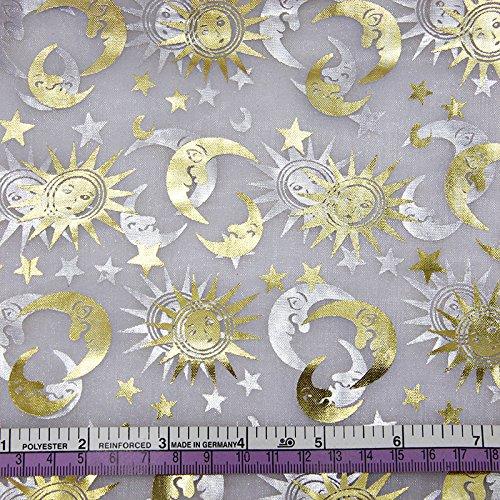 FunnyPicker 50x145Cm Gold Star Moon Sun  - Fusion Scroll Ribbon Shopping Results