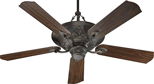Quorum 83565-86, Salon Oiled Bronze Uplight 56 Ceiling Fan with Wall Control
