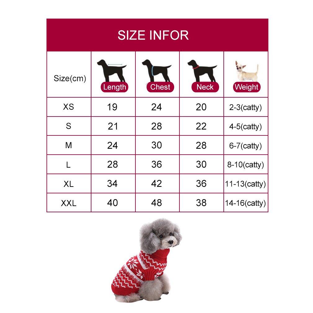 PassMe Ropa para Perros Mascotas Suéter Prednda de Punto Cuello Alto ...