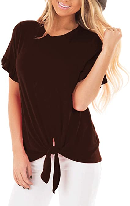 Brown Casual Shirt Top Shirt Blouse