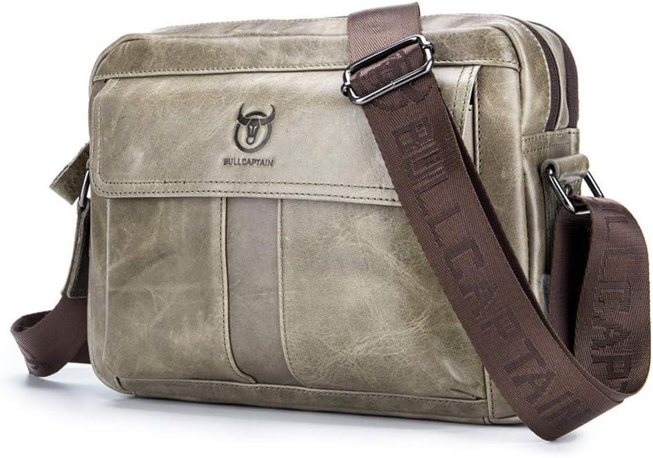 Messager Bag Sacoche /à Bandouli/ère en Cuir Veritable Sacs a Dos port/é /épaule Travers Pochettes SJAPEX Sac de Poitrine Homme pour Sport Affaires Voyage