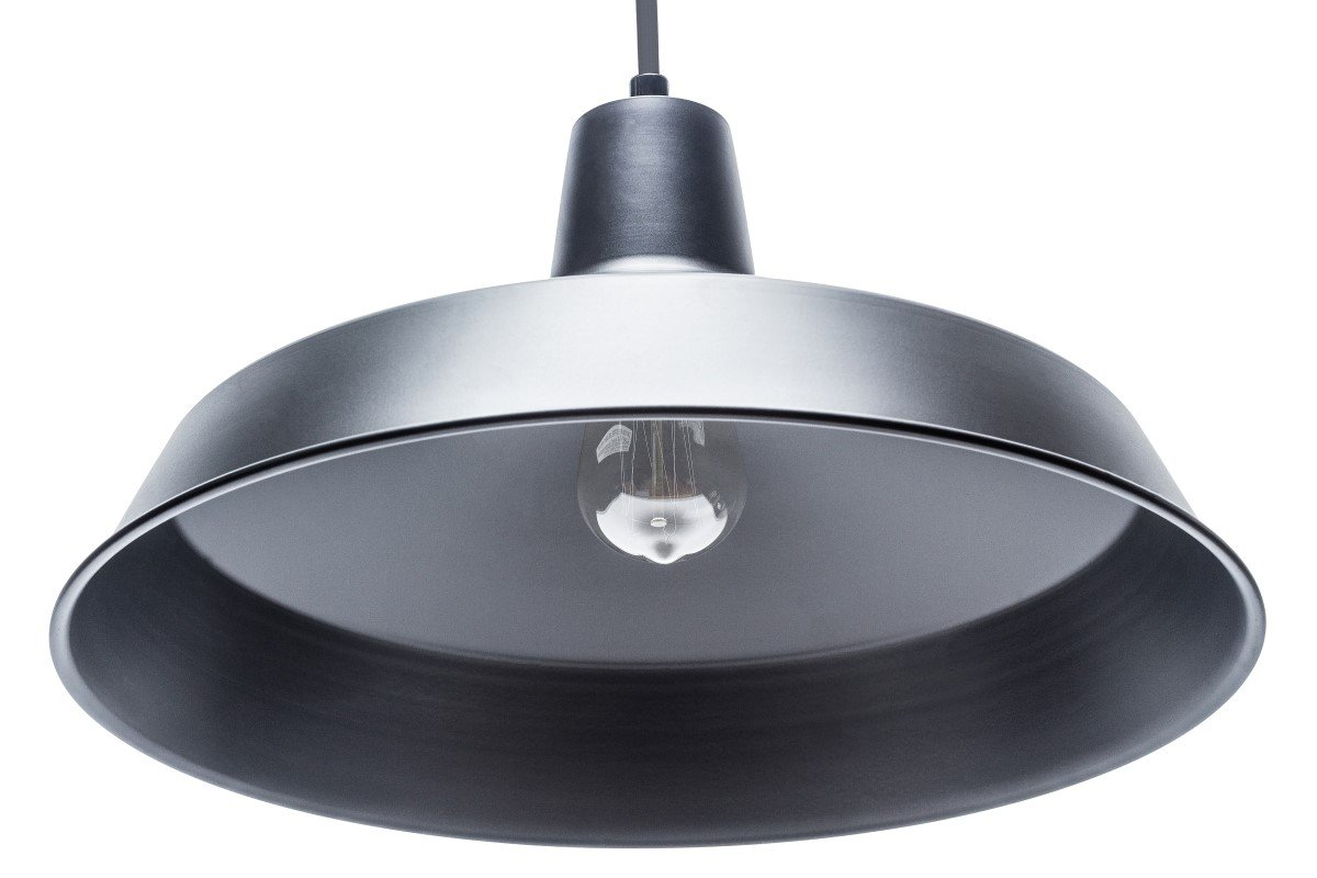Globe Electric Barnyard 1-Light 16'' Industrial Warehouse Pendant, Matte Black Finish, 65155 by Globe Electric (Image #11)