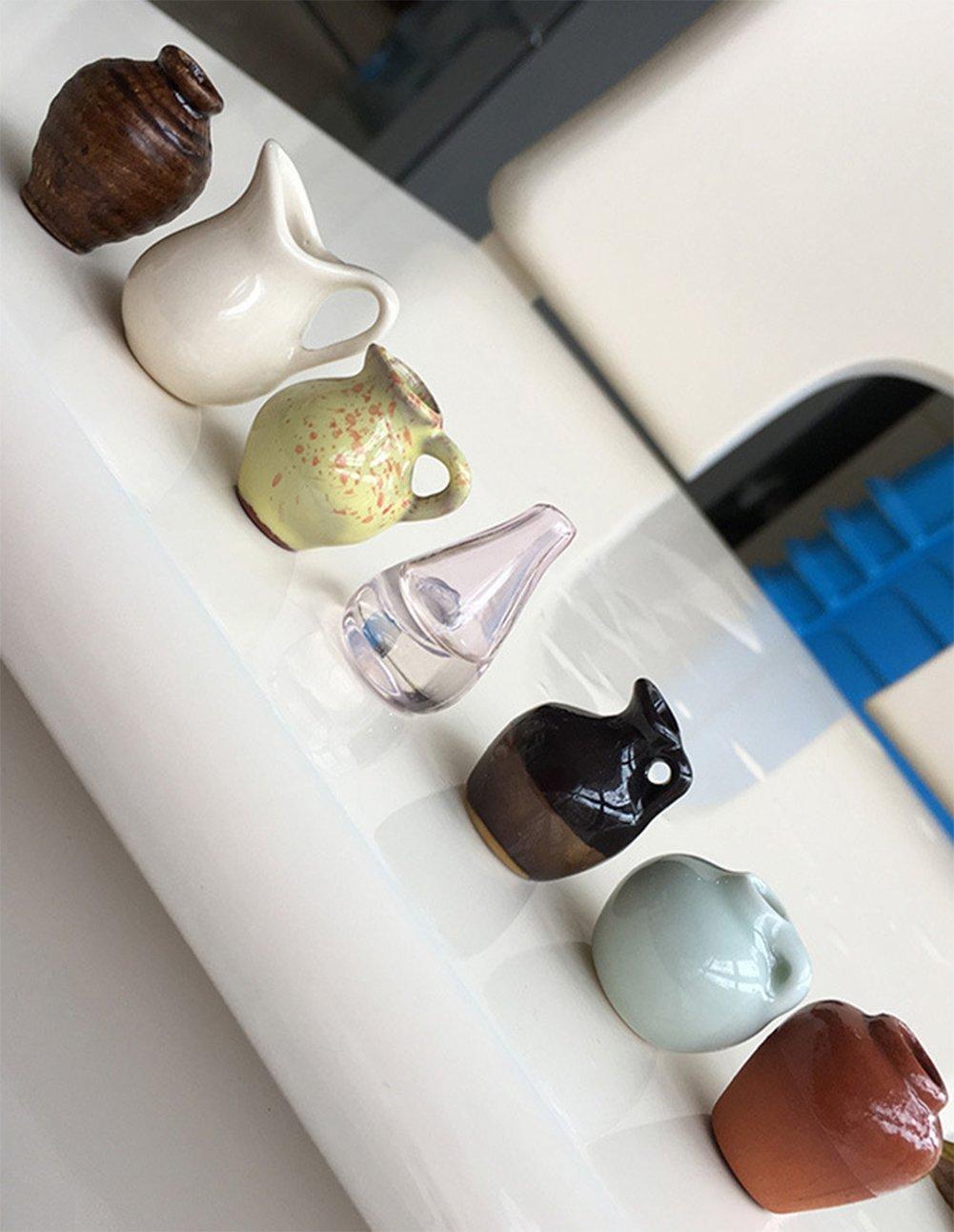 Cdet Creativo de Vidrio refrigerador Pegatinas Mini Vaso de Goma de cer/ámica Retro Chino Viento refrigerador adsorci/ón Pegatinas Negro