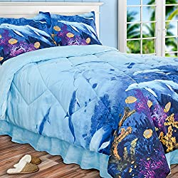 PDK Regency AR09647CSF Dolphin's Cove Comforter Set, Full, Multicolor