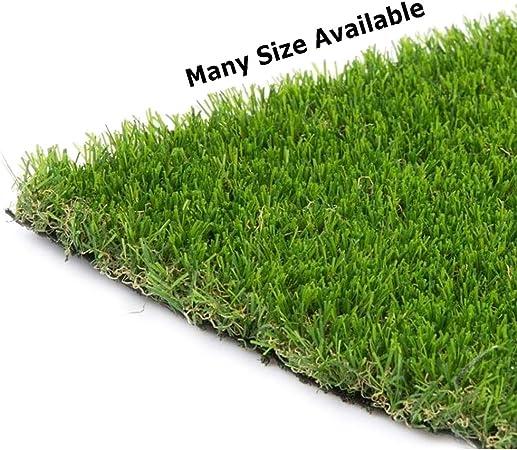 AQAWAS Cesped sintético Hierba Alfombra para el jardín, Sintética 1.5cm De Grosor Césped Artificial, No Tóxico, Tamaños múltiples, para Jardín Y Terraza,Army Green_2x8m/6x24ft: Amazon.es: Hogar
