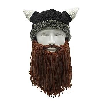 Zgzy Barbe Chapeau Pirate Bonnet en tricot Chapeau The Original Barbare  Guerrier Knit Barbe Chapeau Halloween aebd92d89b7